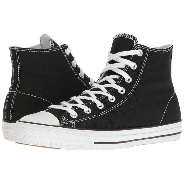 Converse - Chuck Taylor All Star Pro Rubber Infused Canvas Hi (Black/White/Black)  Men's Skate Shoes
