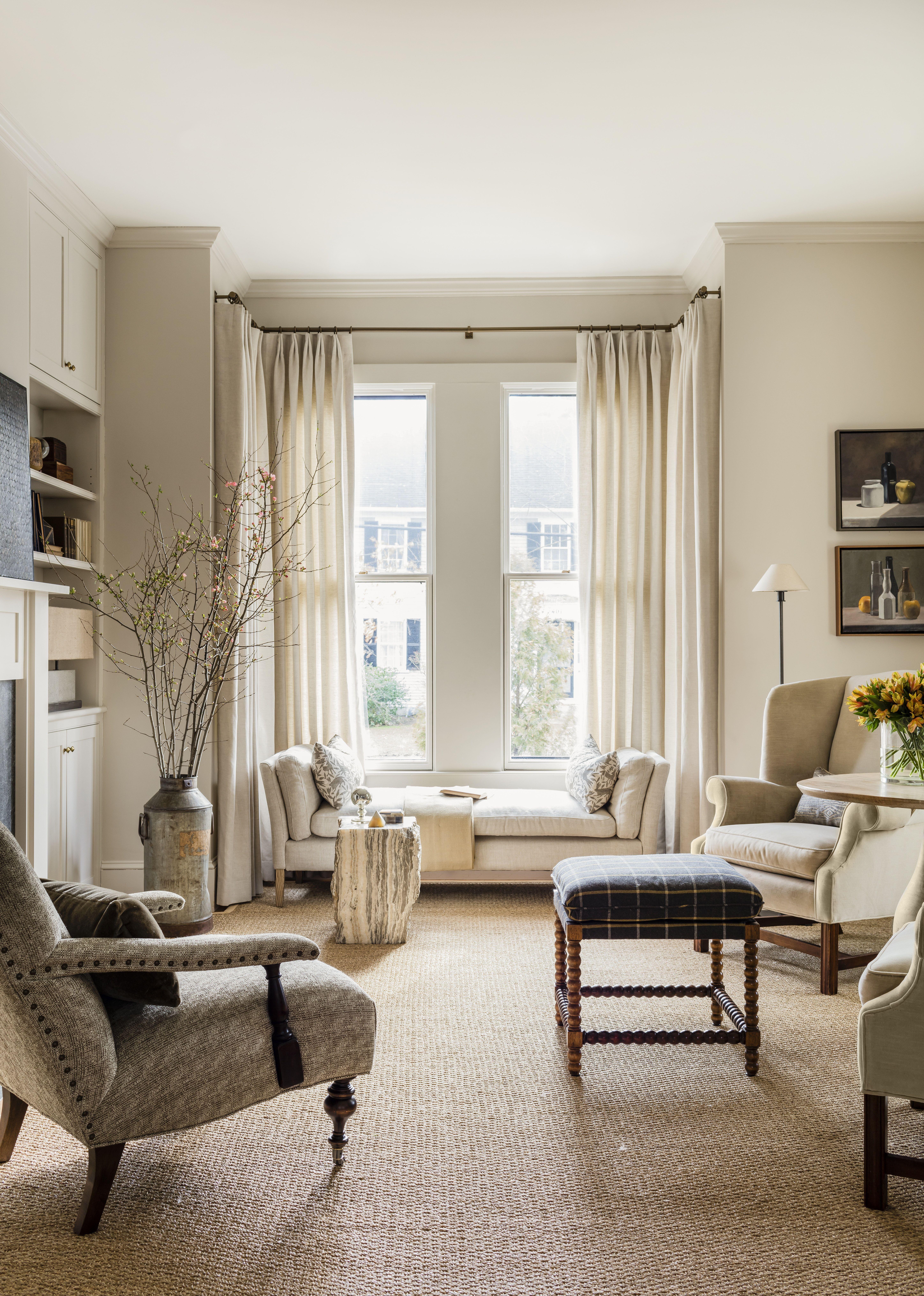 Historic Living Room renovation, custom cabinetry, fireplace ...