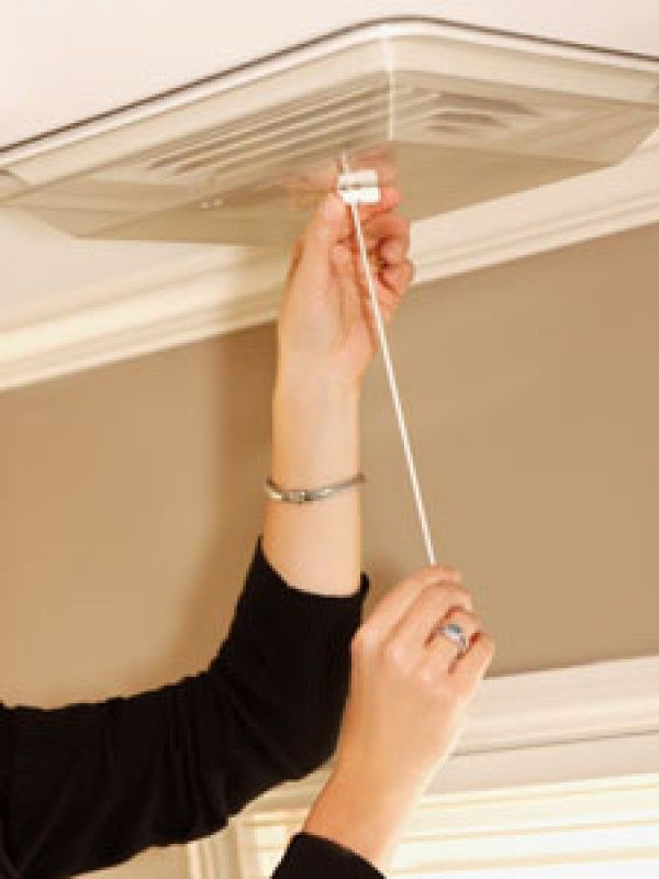 Use cord lock to snug Draft Shield to ceiling  | Ceiling