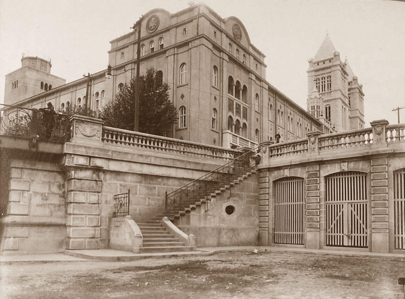 Escadaria de São Bento e parte do Viaduto de Santa Hifigenia  - 1916