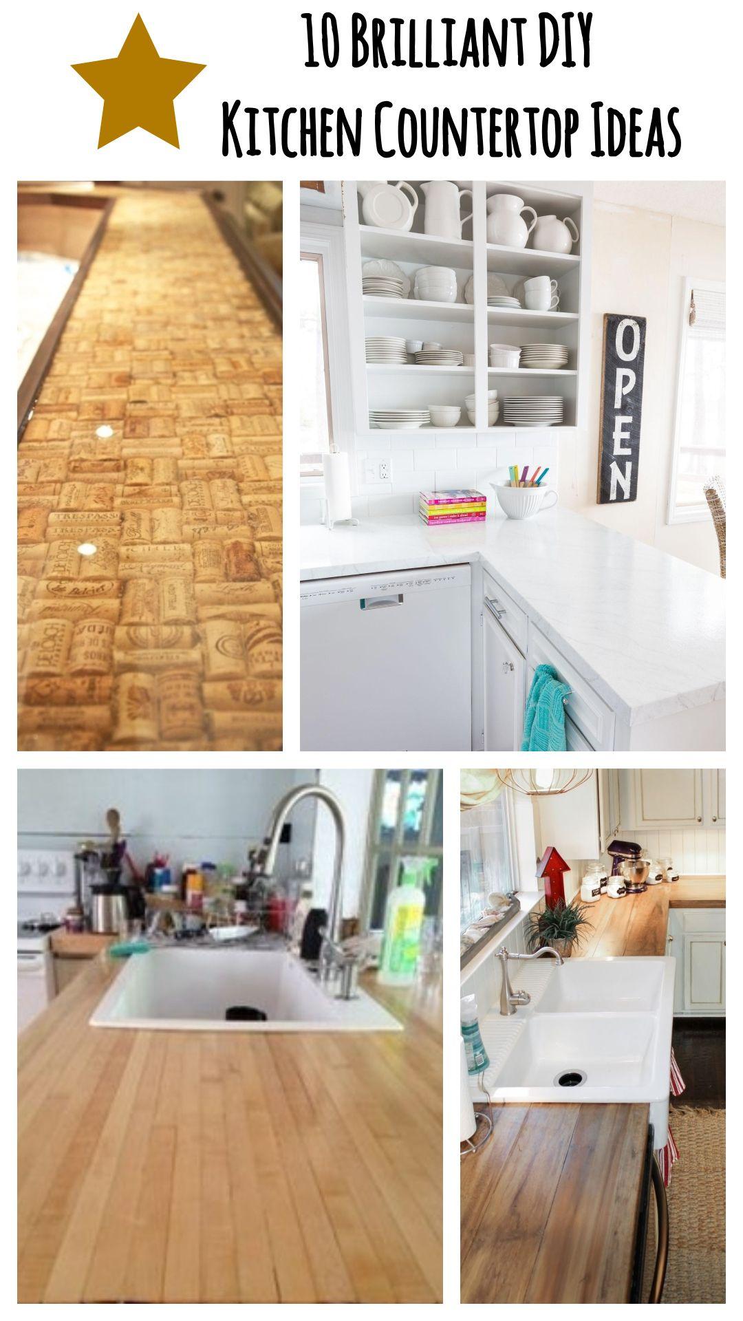 Diy kitchen countertop ideas in 2020 kitchen backsplash