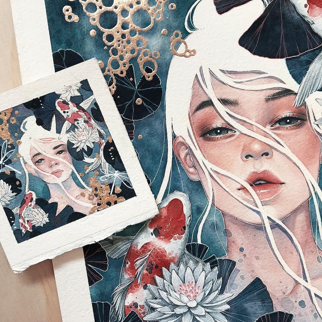 Watercolor Artist Kelogsloops Art Watercolor Art Paintings