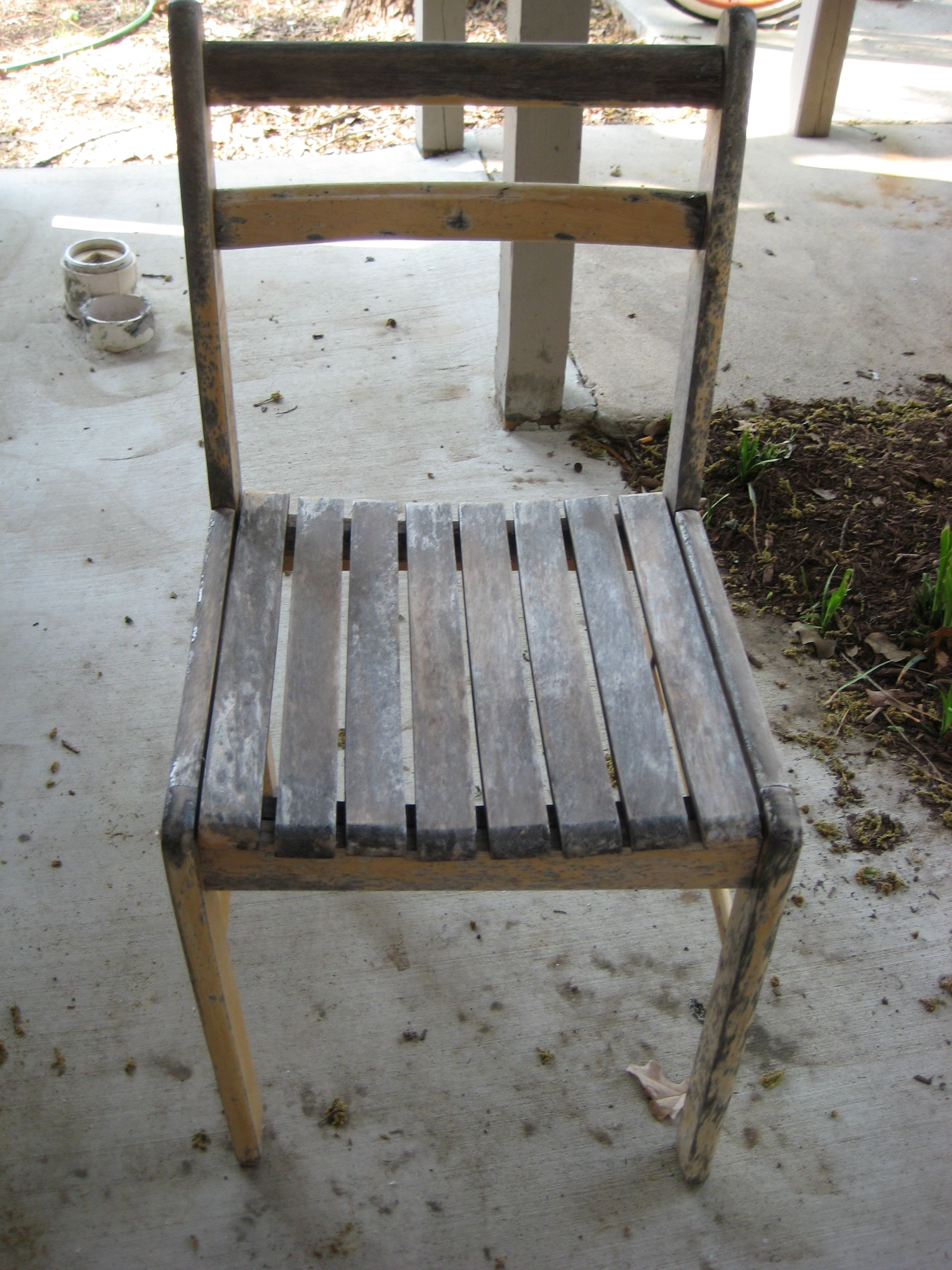 Old Wooden Chair Redo