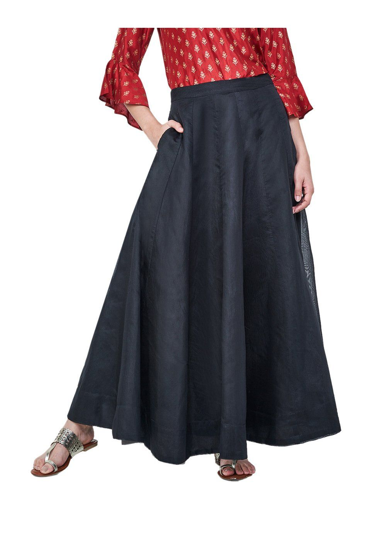 6fb76386f9 Global Desi Black Maxi Skirt -   2499.00   Shorts & Skirt Design ...