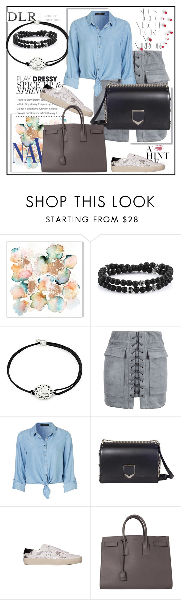 """""""DLRBOUTIQUE.COM"""" by lila2510 ❤ liked on Polyvore featuring COVERGIRL, Alex and Ani, WithChic, Jimmy Choo, Yves Saint Laurent, Rika, DLRLuxuryBoutique and dlrboutique"""