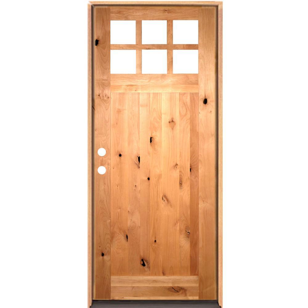 Krosswood Doors 36 In X 96 In Craftsman 6 Lite Wclear Beveled