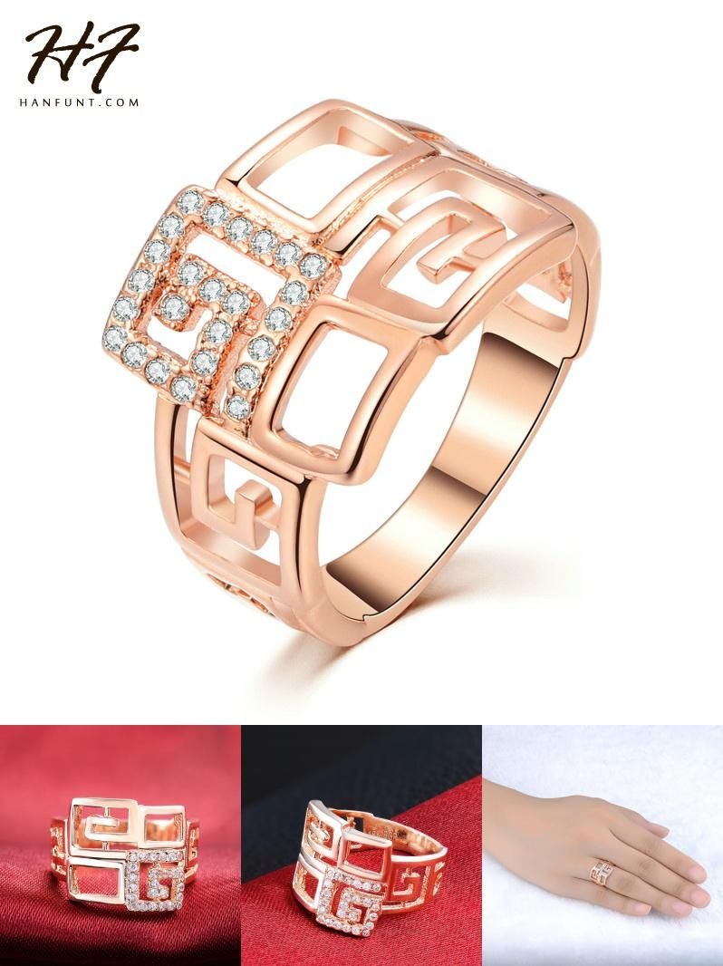 Visit to buy rose gold color with rhinestones paved brand design