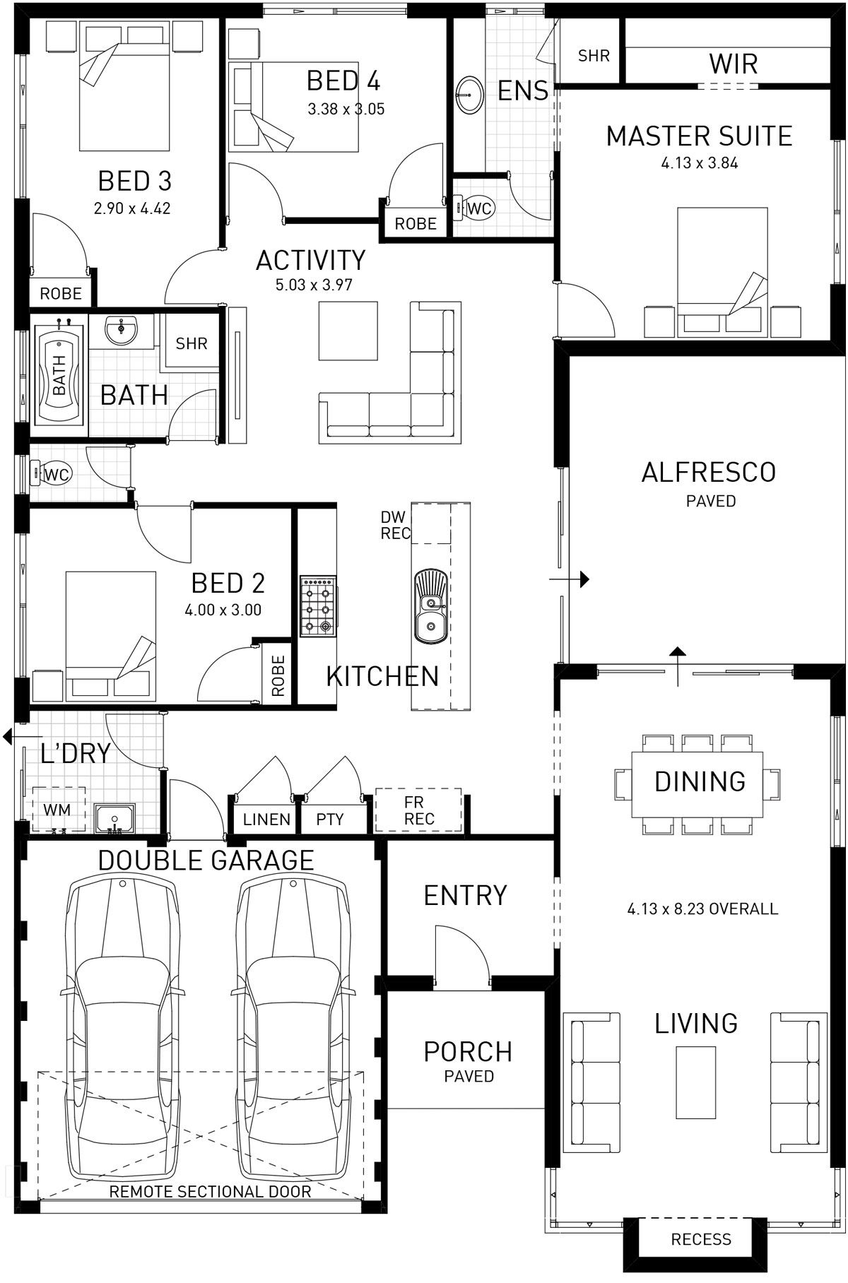 Semillon Single Storey Foundation Floor Plan Western Australia Mansion Floor Plan 4 Bedroom House Plans Floor Plans