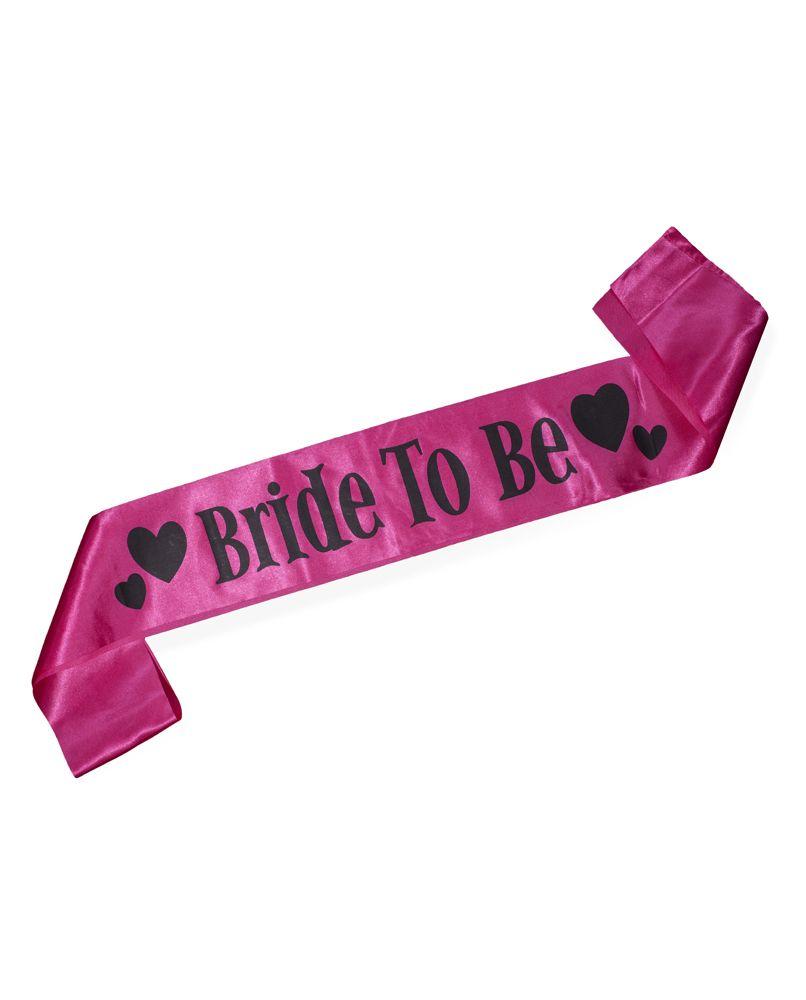 Hot Pink Bride To Be Sash Hot Pink Brides Bride To Be Sash Pink Bride
