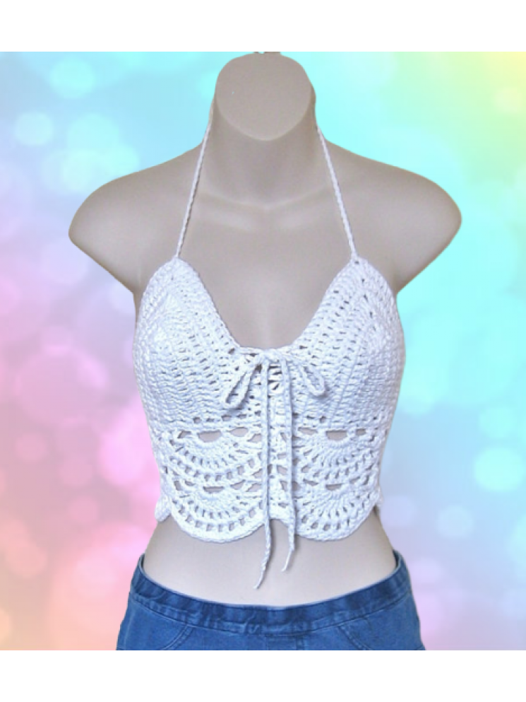 Variegated Crochet Halter for Festivals Beach Hooping or Yoga *3 Choices*