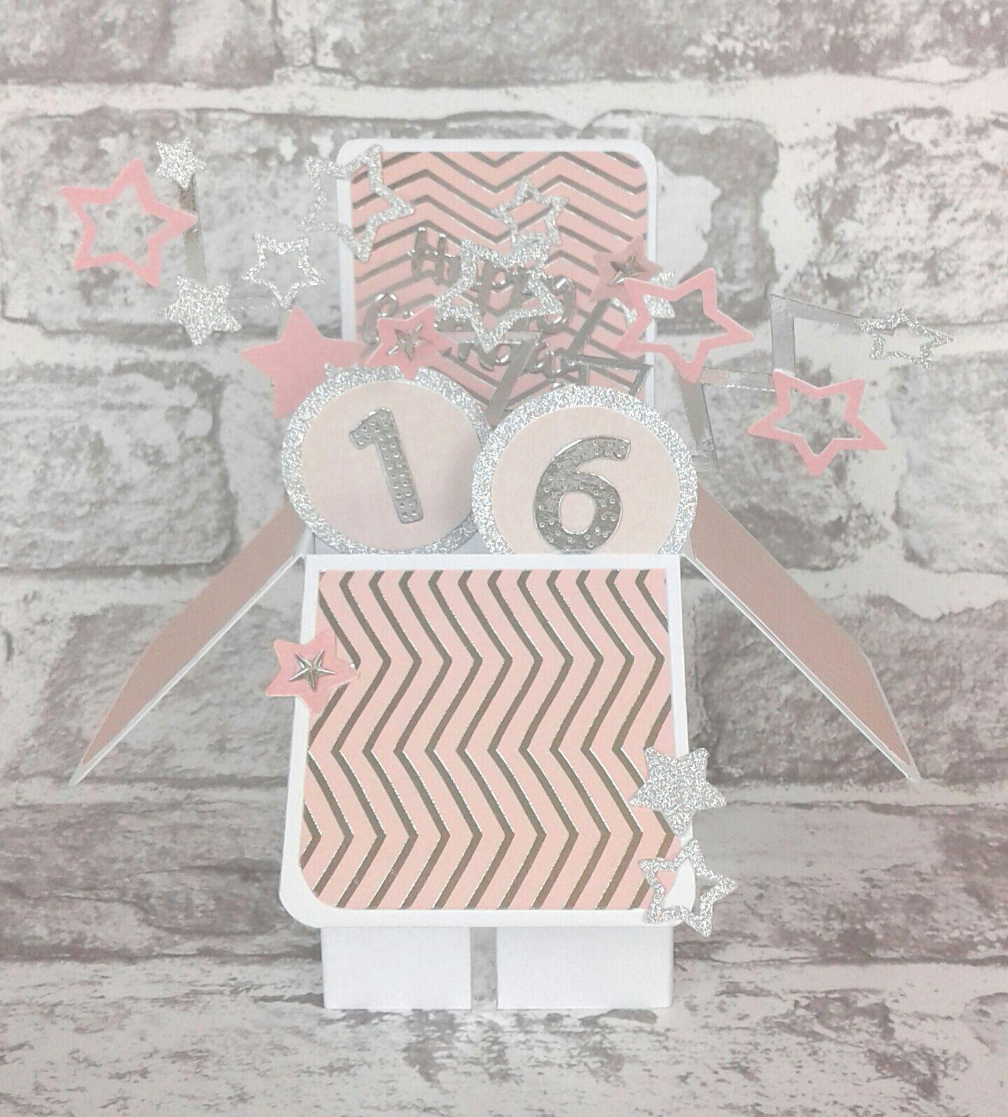 16th Birthday Card Pop Up Card 16th birthday card