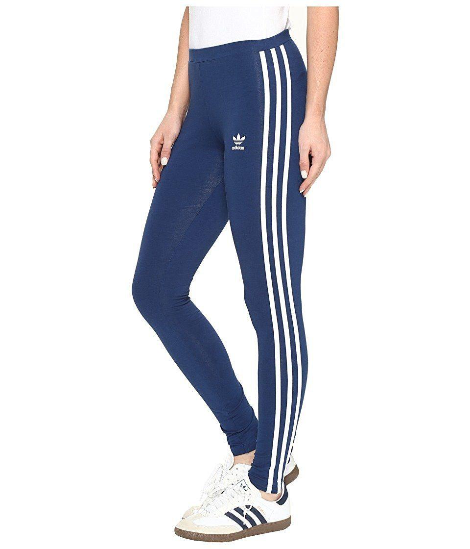 1f30e887d adidas Women's Originals 3 Stripe Leggings at Amazon Women's Clothing  store: ...