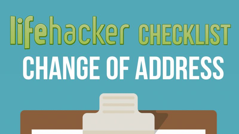 Change Your Address Everywhere On This Printable Checklist When You Move Change Your Address Change Of Address Moving Tips