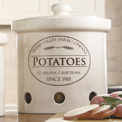 Good Potato Storage Bins   Large Stoneware Canister Love These For A French  Country Farmhouse Look.