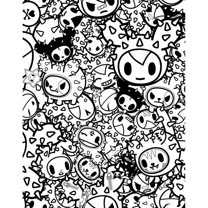 Tokidoki Coloring Pages Google Search Coloring Pages Cool Coloring Pages Cute Coloring Pages
