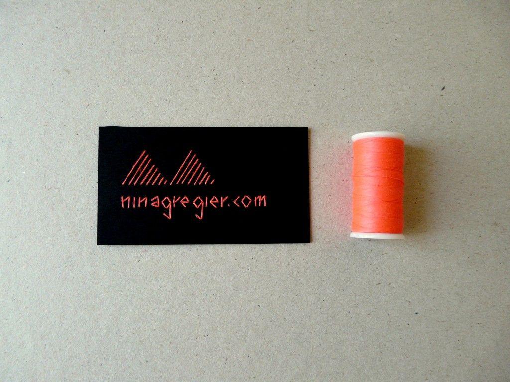 Ninagregier Com Embroidered Biz Cards Stationery Pinterest