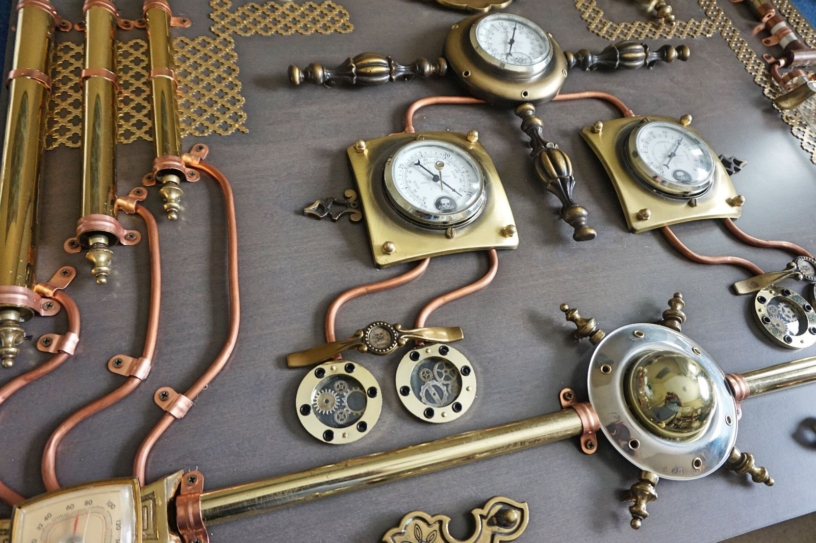 Abstract Industrial Art Control Panel Steampunk Wall Art Home