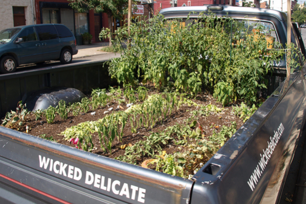 On A Pickup Truck This Grows Herbs Wheels The Lively Flatbed Cruised Around As Promotion For Farm Wicked Delicate Films Doentary