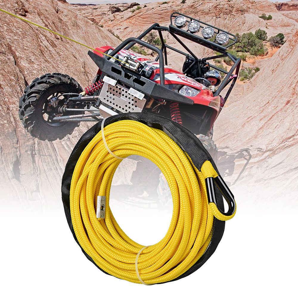 Astra Depot 50ft 1//4 inch Green Synthetic Winch Rope Cable 6400LBs for Jeep ATV UTV KFI Recovery SUV Truck Vehicle