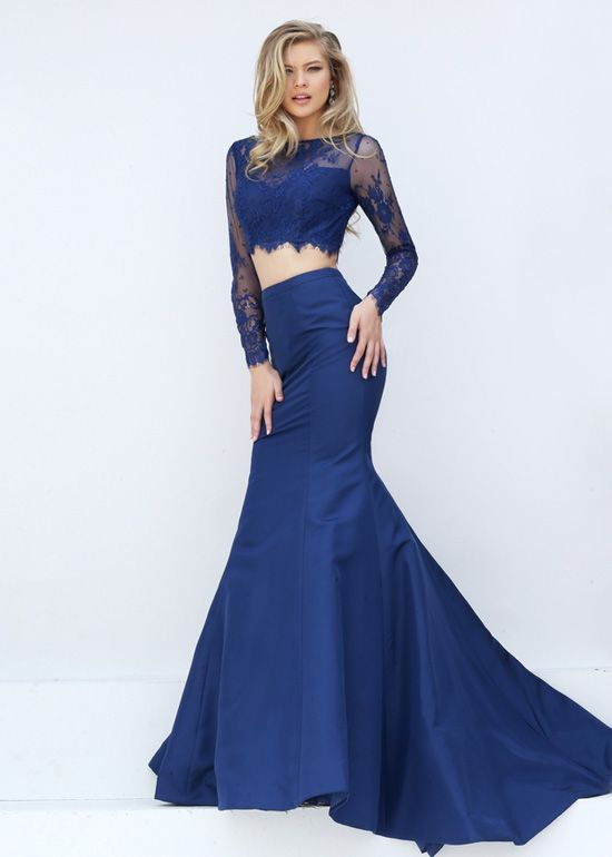 Blue Crop Top Dresses