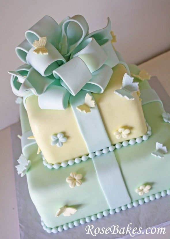 Butterflies Flowers Birthday Cake Birthday cakes and Pastels