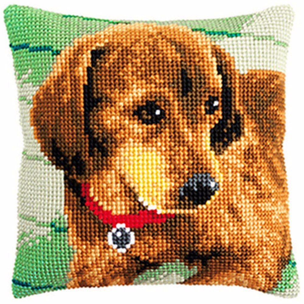 Cross Stitch Pillow Mat Diy Craft Cute Dog Latch Hook Kit Needlework Crocheting Cross Stitch Cushion Cross Stitch Pillow Diy Cross Stitch