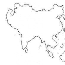 Asia Map Coloring Page