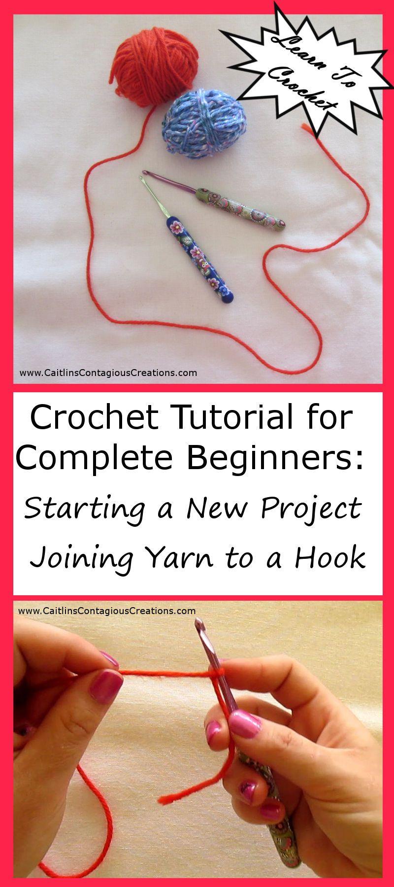 Como Aprender A Tejer Crochet Para Principiantes Joining Yarn To A Hook Beginner Crochet Tutorial Con Imagenes