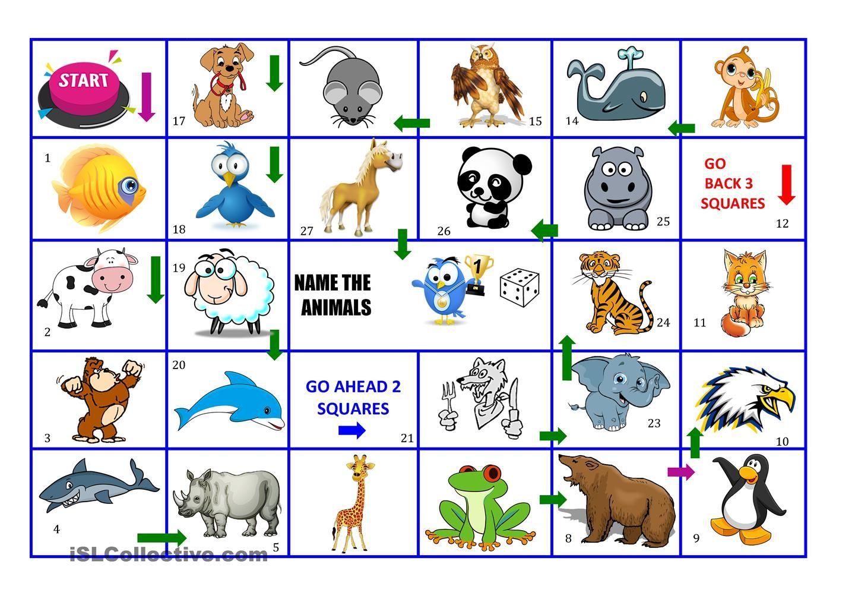 Animals Board Game
