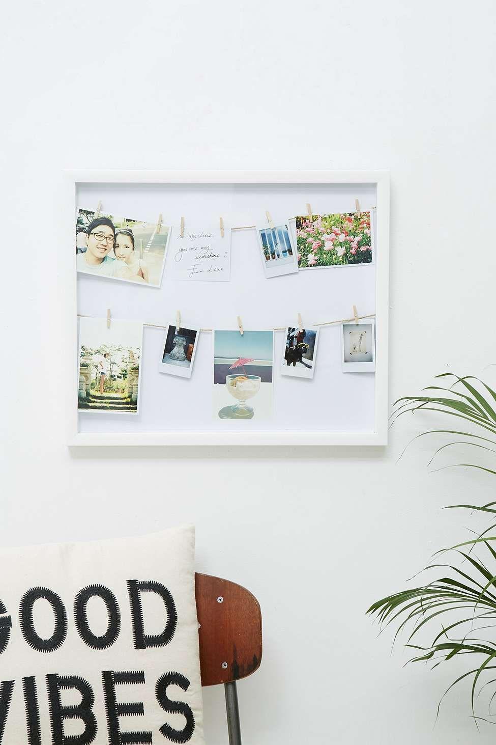 Bilderrahmen mit Wäscheleinen | Einrichtungsideen | Pinterest ...