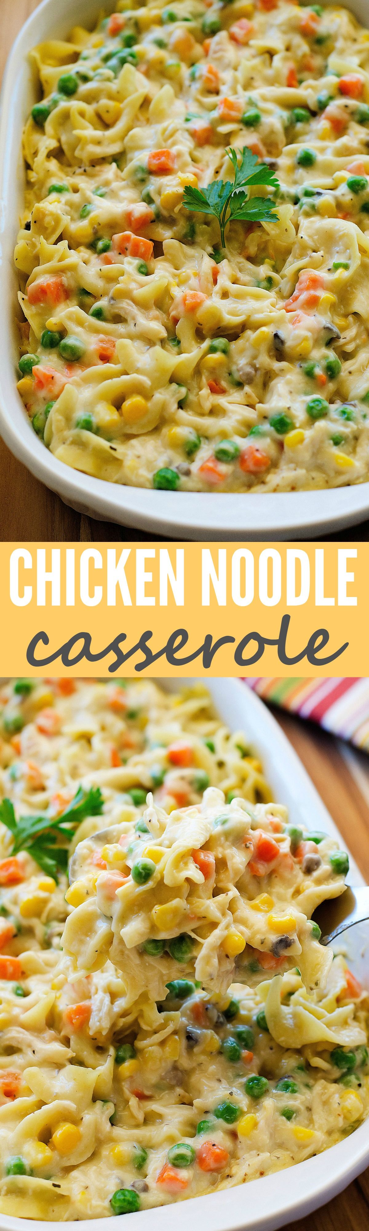 This comforting casserole has all the elements of the classic soup and more  Delicious! is part of Chicken noodle casserole -