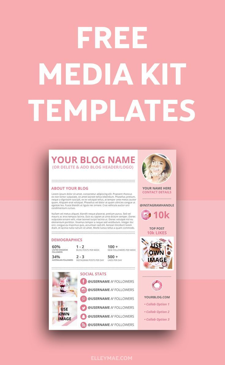 How To Create A Kick Ass Media Kit Blogging Business Pinterest