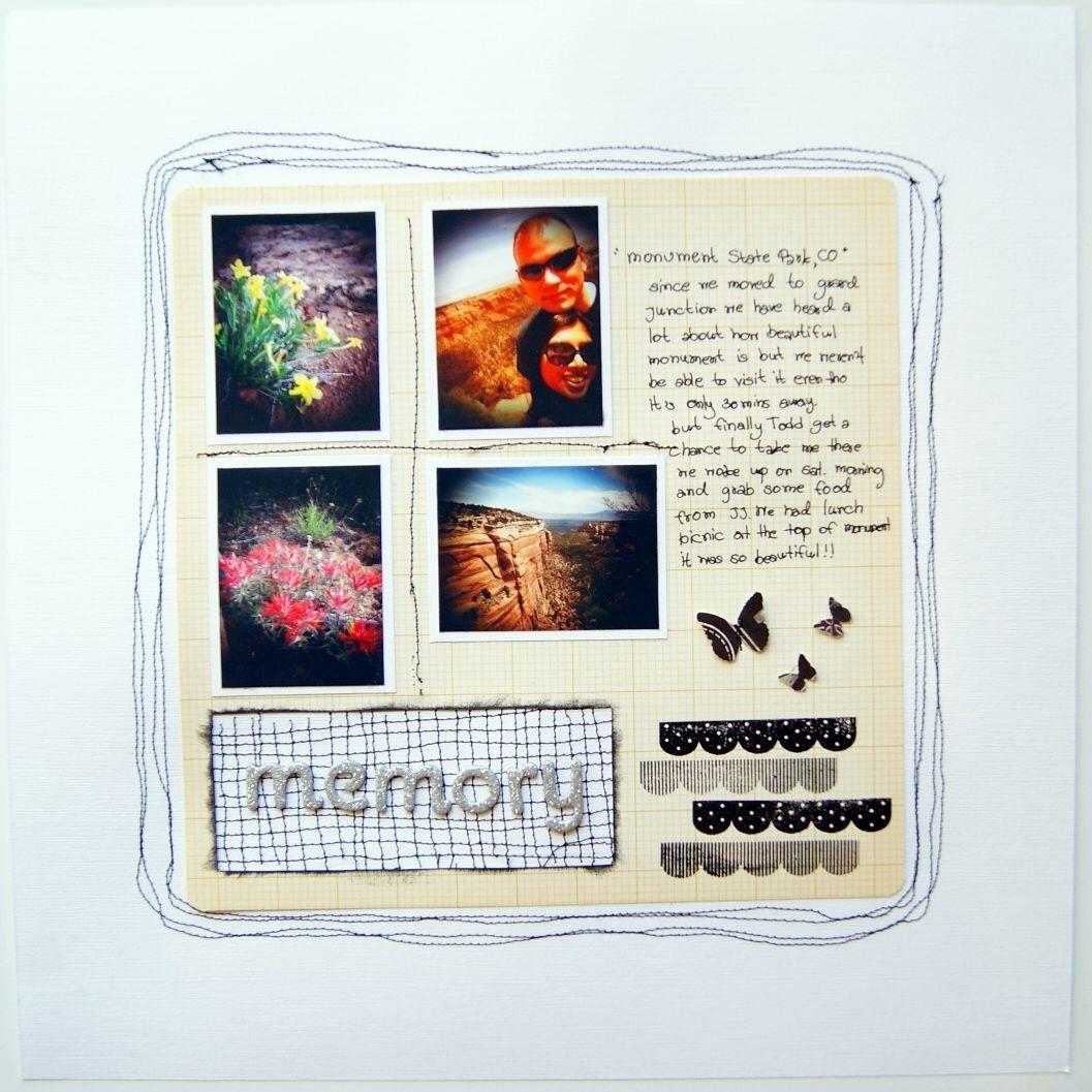 How to scrapbook good - Good Memory Scrapbook Layout