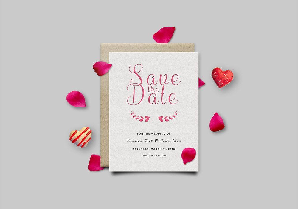 Save The Date Invitation Card Mockup Psd Save The Date Templates