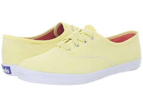 d680045ab95b Keds Champion Seasonal Pastels - Light Yellow Canvas - Zappos.com  40.00