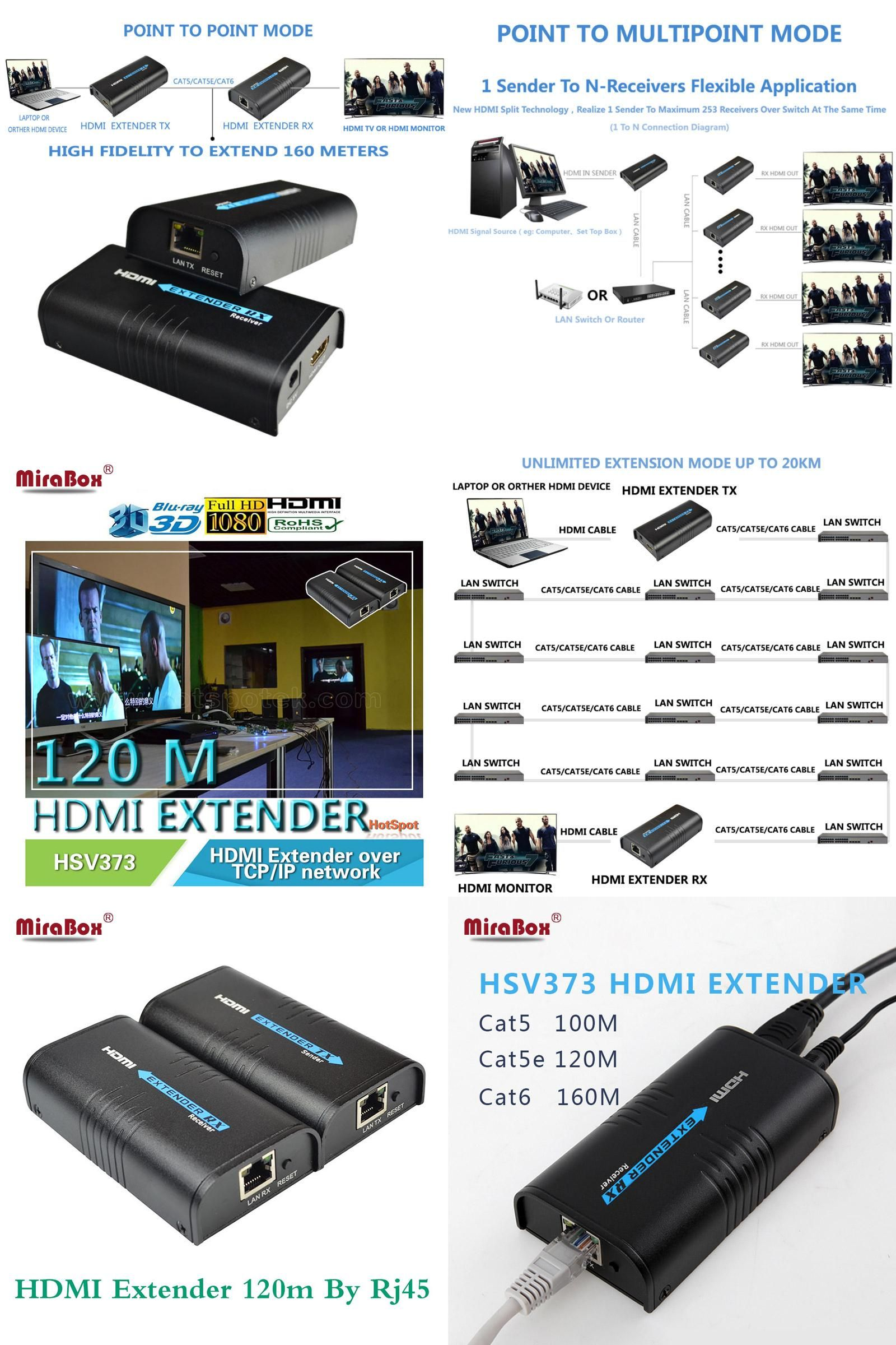 Visit to Buy] Mirabox HDMI repeater HDMI extender can extend 120m ...