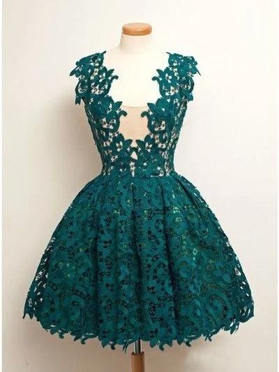 short lace green Prom Dress, cheap homecoming dress, graduation dress, prom dress for girls,1433 -   15 dress Graduation green ideas