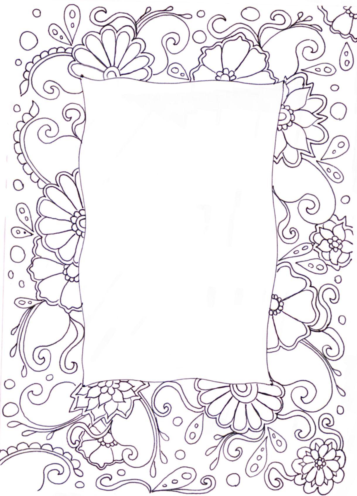 Zentangle Doodle Frames Doodle Frame Doodle Borders