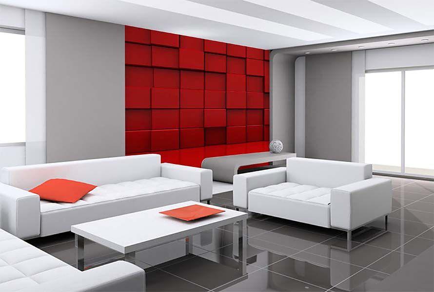 3d fototapeta červené kocky 24897 3D fototapety Tapety 3D efekt - Dessiner Maison D Gratuit