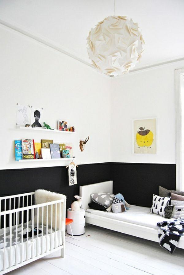 Kinderzimmer Mit Weißer Wandgestaltung   Originelle Deko Elemente   62  Kreative Wände Streichen Ideen U2013 Interessante Techniken