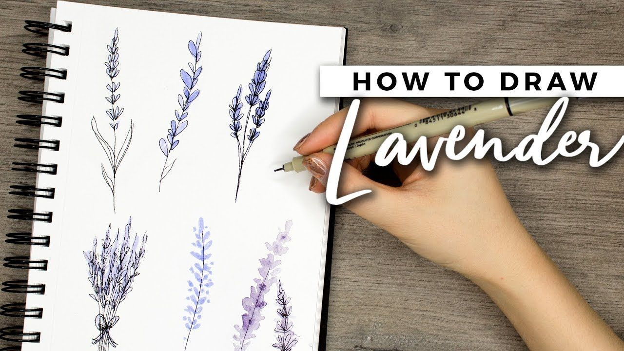 How To Draw Lavender Flowers Doodle With Me Tutorial Youtube Flower Doodles Flower Drawing Simple Flower Drawing