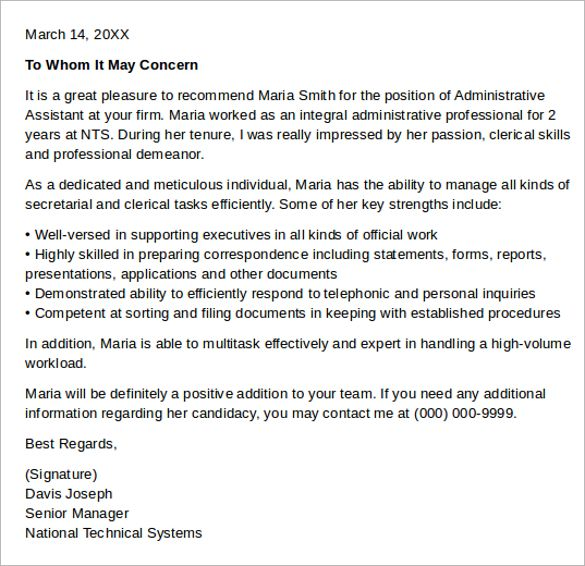 sample cover letter for administration \u2013 manuden