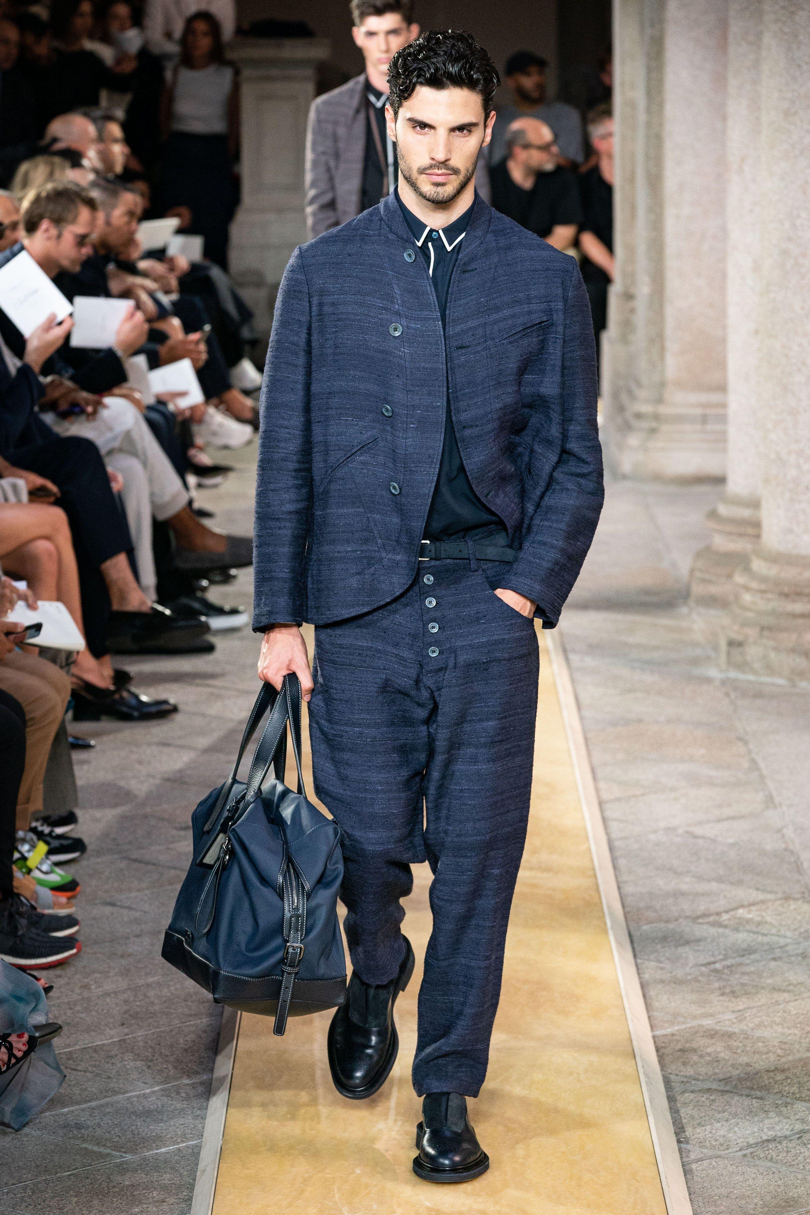 5fb33009 Giorgio Armani Spring 2020 Menswear Fashion Show in 2019 | Mens ...