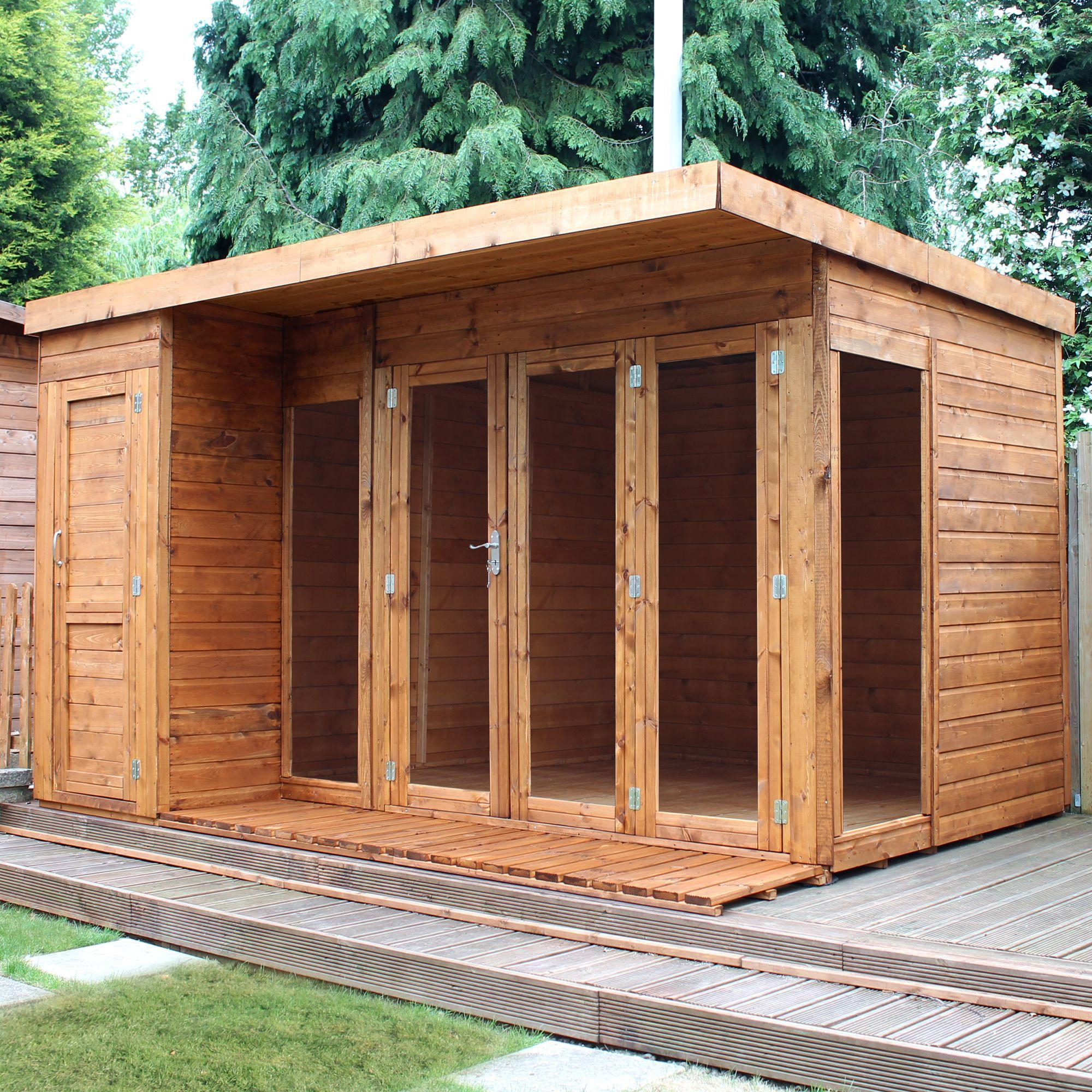 Diy supplies accessories diy at b q - 12x8 Combi Garden Room Shiplap Timber Summerhouse Store With Assembly Service