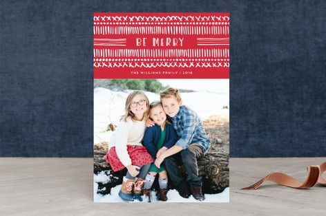 Dot and Dash Holiday Photo Cards by Paper Dahlia at minted.com