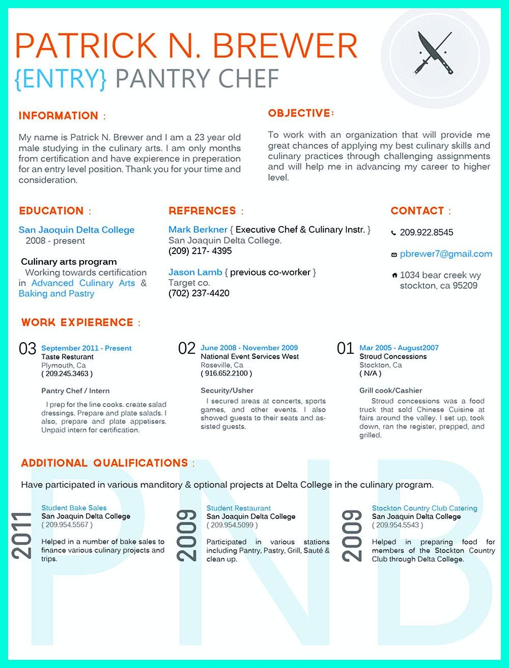 Writing Culinary Resume Is Not That Difficult As You Are Planning