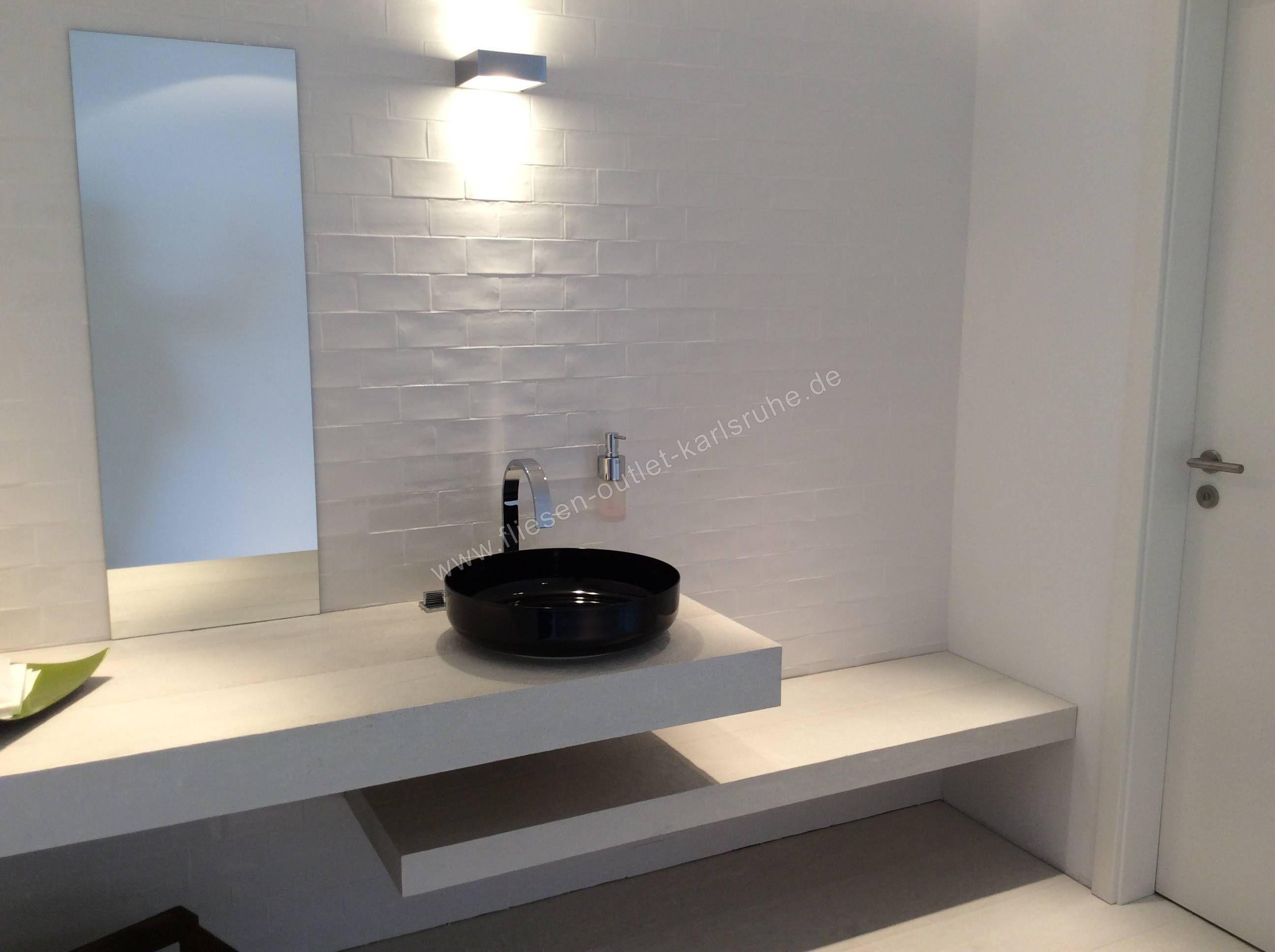Betonbrick Wall 7 5x15 Cm White In 2019 Fliesen Wall Bathroom