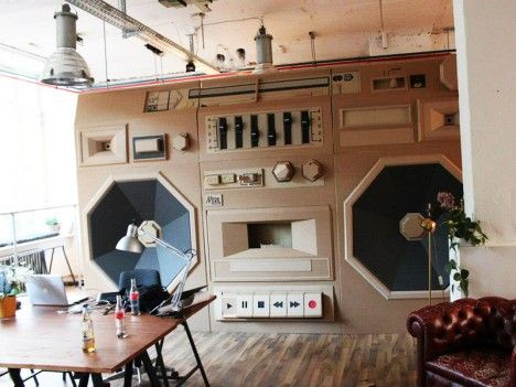 Creative office space in Berlin.. because who doesn't need a gigantic boombox in the office?