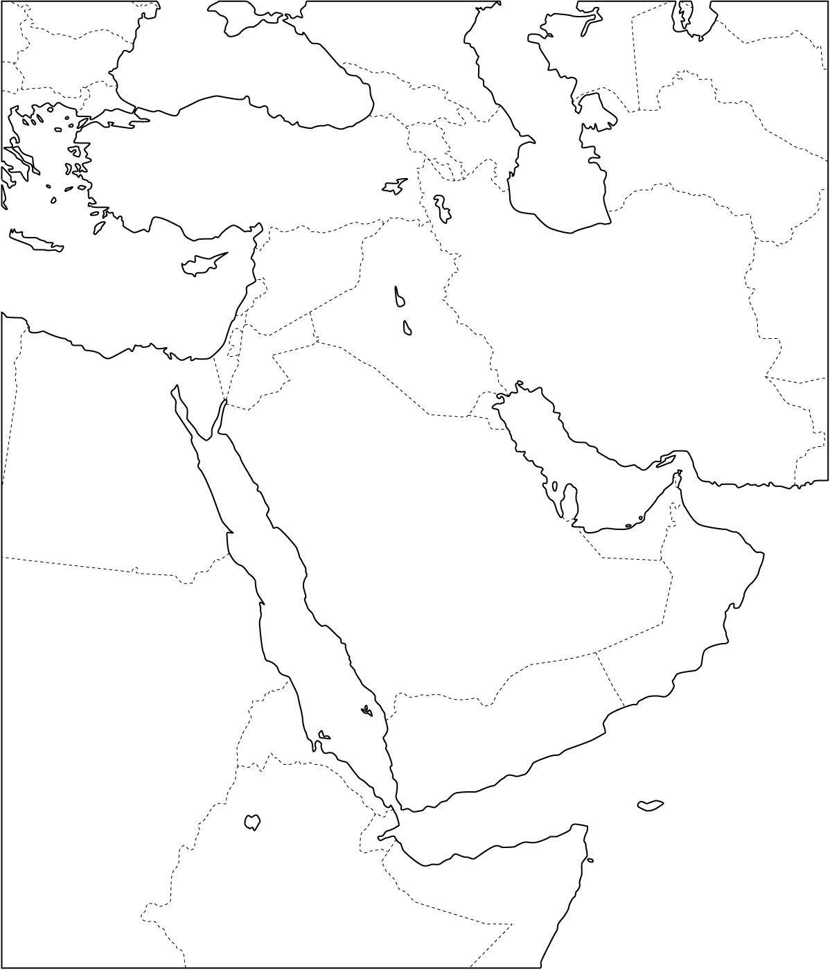 Mapa de pases de Oriente Medio Freemap  Conflicto blico