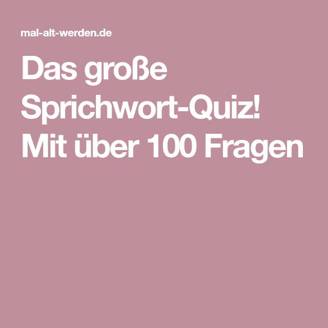 Sprichwörter Quiz